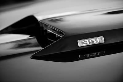 1969 Ford Mustang Mach 1 Hood Emblem Poster by Jill Reger