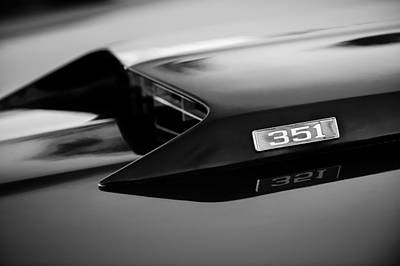 1969 Ford Mustang Mach 1 Hood Emblem Poster