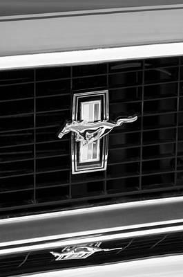 1969 Mustang Mach 1 Grille Emblem Poster by Jill Reger