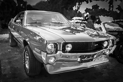 1970 Amc Javelin 401 Bw Poster by Rich Franco