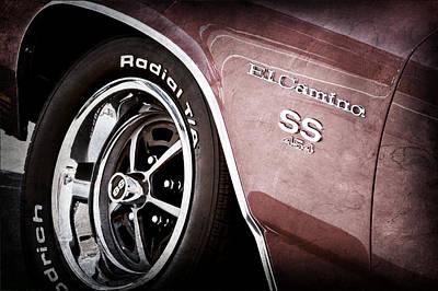 1970 Chevrolet El Camino Ss 454 Ci Wheel - Side Emblem Poster by Jill Reger