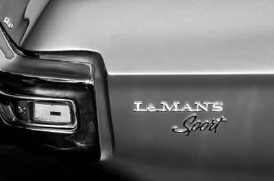 1971 Pontiac Lemans Sport Taillight Emblem Poster by Jill Reger
