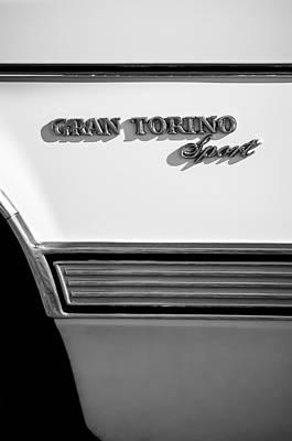 1972 Ford Gran Torino Sport Emblem Poster by Jill Reger