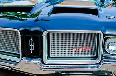 1972 Oldsmobile 442 Grille Emblem Poster by Jill Reger