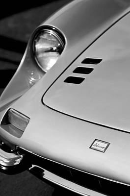 1973 Ferrari 246 Dino Gts Hood Emblem Poster by Jill Reger