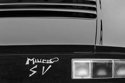 1973 Lamborghini Miura Sv Berlinetta Taillight Emblem Poster