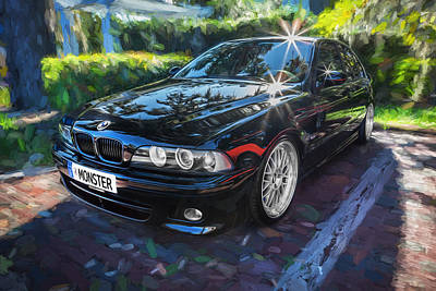 1999 Bmw 528i Sports Car Painted   Poster by Rich Franco