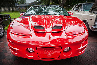 1999 Pontiac Trans Am Anniversary Edition Painted Poster by Rich Franco