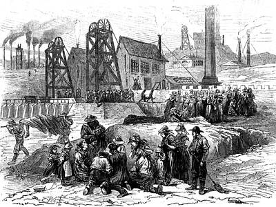 19th Century Mining Disaster Poster by Collection Abecasis