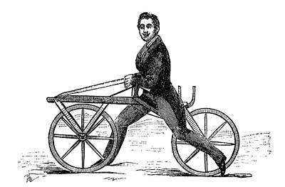 19th Century Velocipede Poster