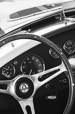 2001 Shelby Cobra Replica Steering Wheel Emblem Poster by Jill Reger