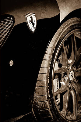 2011 Ferrari 599 Gto Emblem - Wheel Poster by Jill Reger