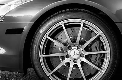 2012 Mercedes-benz Sls Amg Gullwing Wheel Poster by Jill Reger