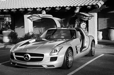 2012 Mercedes-benz Sls Gullwing Poster by Jill Reger