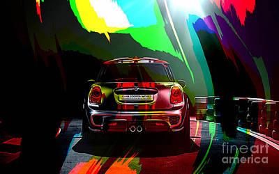 2014 John Cooper Works Mini Cooper Poster by Marvin Blaine