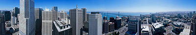 360 Degree View Of A City, Rincon Hill Poster by Panoramic Images