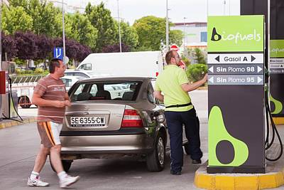A Bio Fuel Petrol Station In Ecija Poster by Ashley Cooper