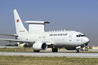 A Boeing 737 Aew&c Of The Turkish Air Poster by Daniele Faccioli