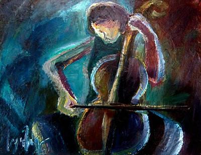 A Cellist Poster by Lynn Huong Nguyen