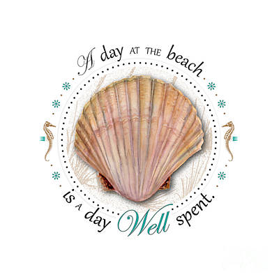 A Day At The Beach Is A Day Well Spent Poster by Amy Kirkpatrick