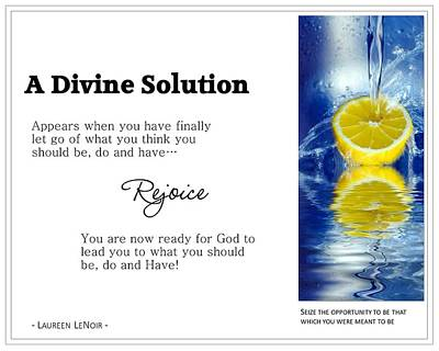 A Divine Solution Poster