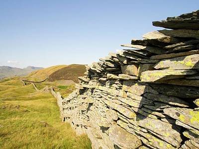 A Dry Stone Wall On Lingmoor Poster