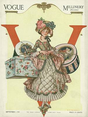 A French Shepherdess Poster by Frank X. Leyendecker