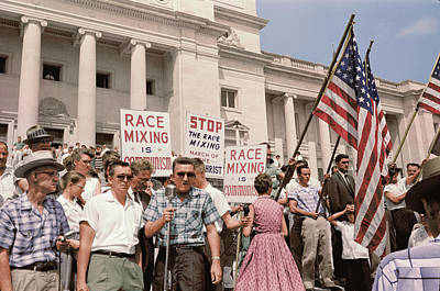 A Group Of People Rally In Washington Poster