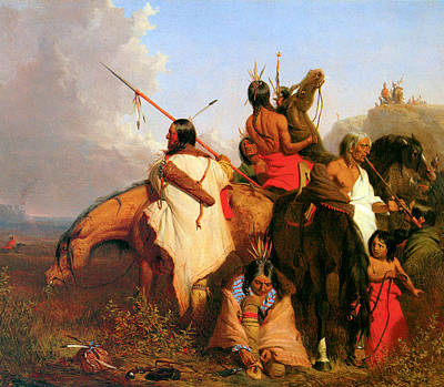 A Group Of Sioux Poster by Charles Deas