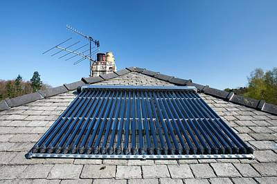 A Solar Panel Water Heater Poster by Ashley Cooper