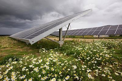 A Solar Park At Wheal Jane Poster by Ashley Cooper