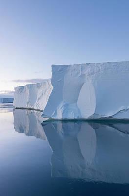 A Tabular Iceberg Under The Midnight Poster by Jeff Mauritzen
