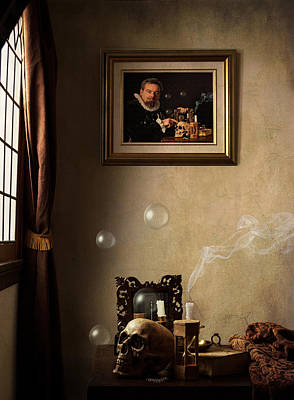 Poster featuring the photograph A Vanitas For The Stadhouder by Levin Rodriguez