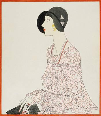 A Woman Wearing A Reboux Hat Poster by Douglas Pollard