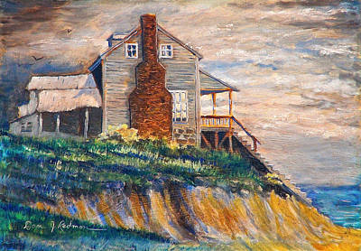 Poster featuring the painting Abandoned Beach House by Dan Redmon