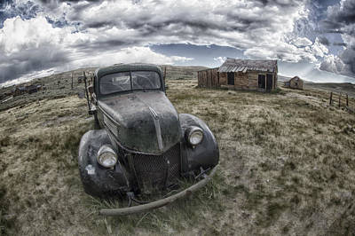 Abandoned Car In Bodie Poster by Igor Baranov