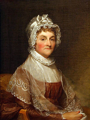 Poster featuring the photograph Abigail Smith Adams By Gilbert Stuart by Cora Wandel