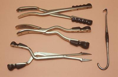 Abortion Instruments Poster by Science Photo Library