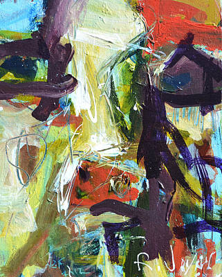 Abstract Cow Poster by Robert Joyner
