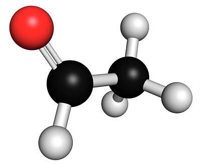 Acetaldehyde Molecule Poster