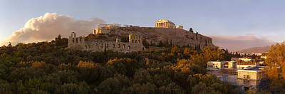 Acropolis Of Athens At Dusk, Athens Poster by Panoramic Images