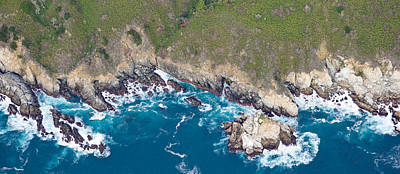 Aerial View Of A Coast, Big Sur Poster by Panoramic Images