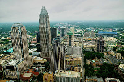 Aerial View Of Charlotte, Nc Poster