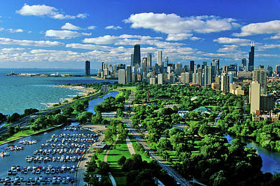 Aerial View Of Chicago, Illinois Poster