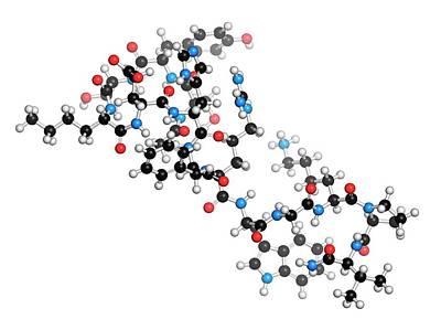 Afamelanotide Drug Molecule Poster