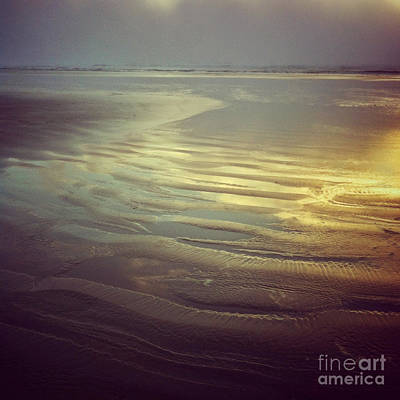 Agate Beach Sunset Poster by Andrea Gingerich