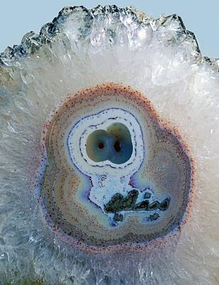 Agate Geode Poster by Science Photo Library