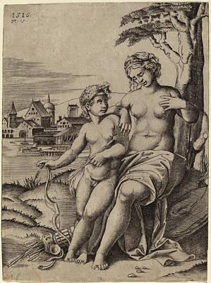 Agostino Dei Musi After Raphael Italian Poster