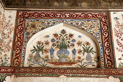 Agra, India Still-life Floral Painting Poster