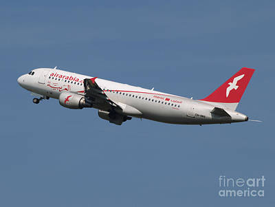 Air Arabia Maroc Airbus A320 Poster by Paul Fearn